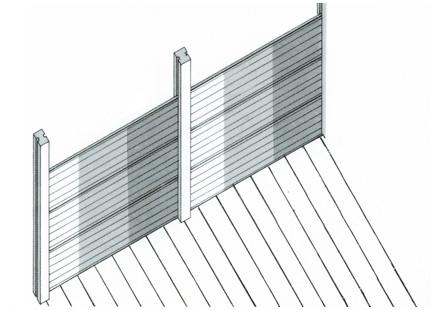 Lastre in cemento per recinzioni